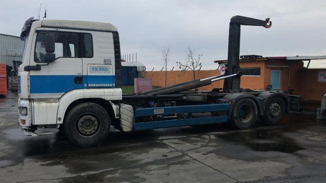 MAN TGA Abroll, camion cu carlig pentru containere. Sau schimb