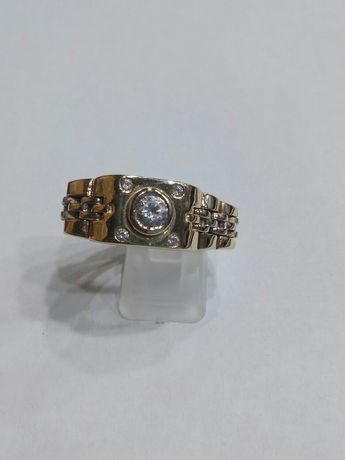Vind inel din aur 14kt model Rolex