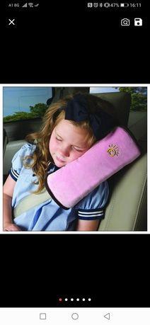 Възглавничка за кола и предпазител за колан детски