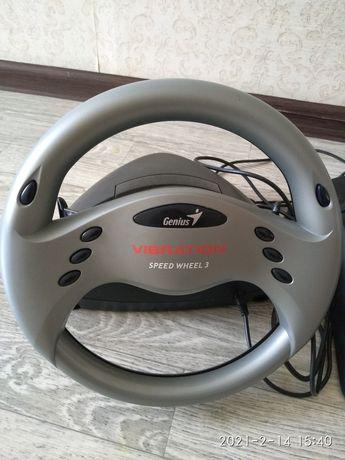 Игровой руль genius vibration speed wheel 3