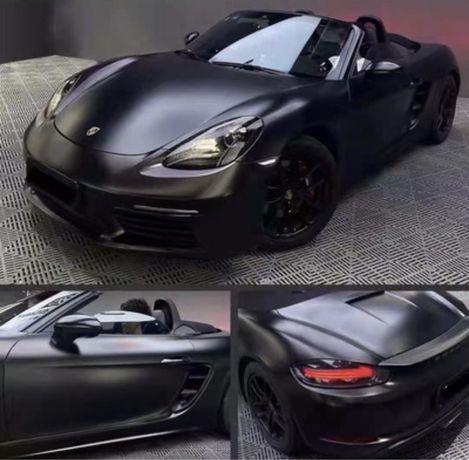 Матовая блестящая черная пленка для авто
