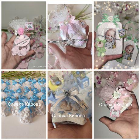 Подаръци за гости на сватба, кръщене, погача, рожден ден