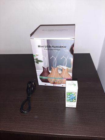 Увлажнитель воздуха с подсветкой 7 режимов Mini USB Humidifier светлый