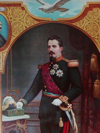 Tablou Litografie Alexandru Ioan Cuza 1909