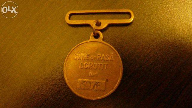 Vand jeton, medalie Caine de rasa ocrotit, de colectie RAR
