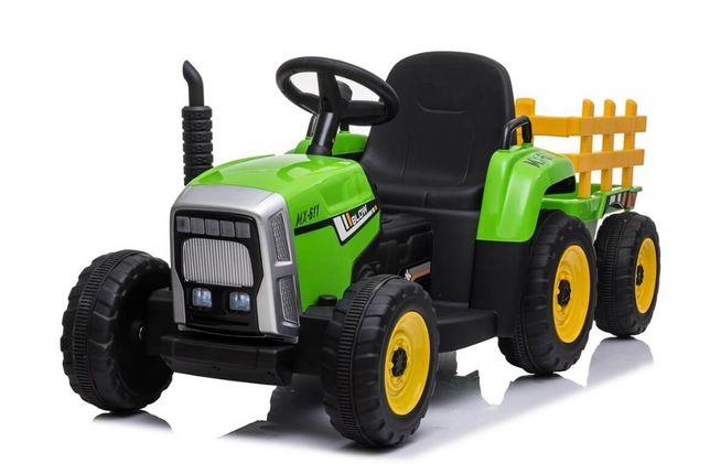 Tractor electric cu remorca pentru copii BLOW TRUCK (MX-611) Verde