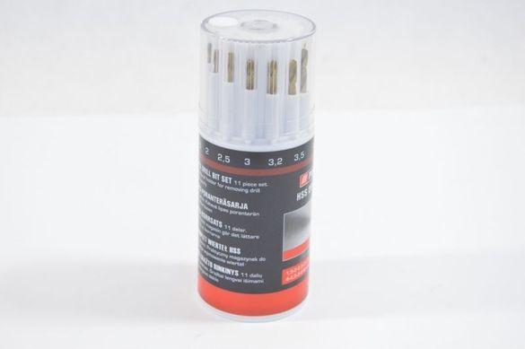 Свредла за метал HSS в кръгла пластмасова кутия (магазин) 11 части