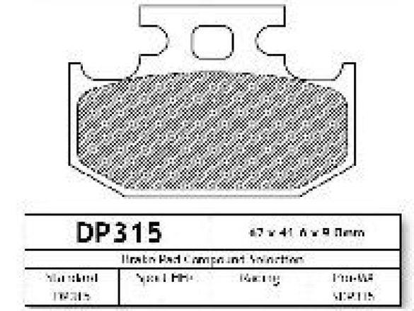 Dp brakes накладки за мотор предни задни honda yamaha suzuki kawasaki