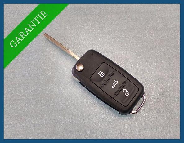 Carcasa cheie cu 3 butoane VW Golf Jetta Touran Scirocco Tiguan SKODA