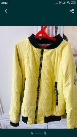 Курта жёлтая,на весну, демизесонная. В подарок качественную одежду отд