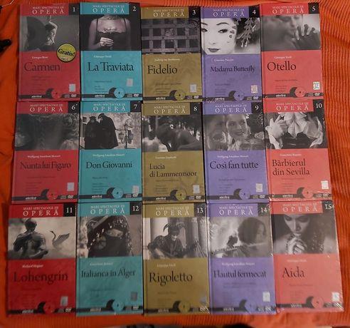 Vand Marile Spectacole de Opera, 15 volume+Cd, in tipla