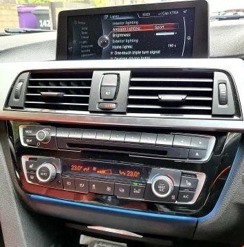 Rama Trim consola centrala radio cd clima led Bmw Seria 3 F30 F31 F33