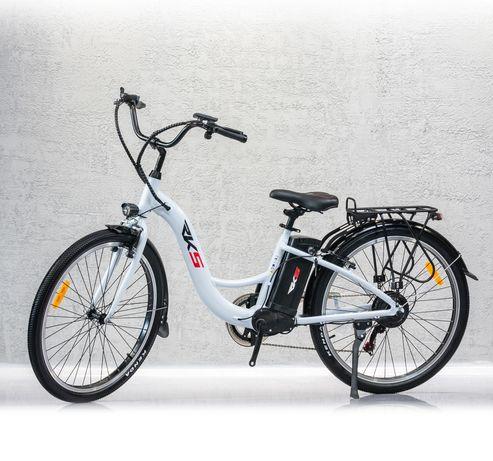 Bicicleta Electrica Deluxe RKS MB6, Motor 250W, Litiu Ion 36V 10,4Ah