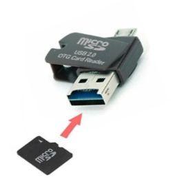 OTG USB microUSB card reader- cititor de card micro SD, OTG