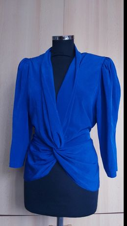 Bluza ocazie eleganta albastru royal