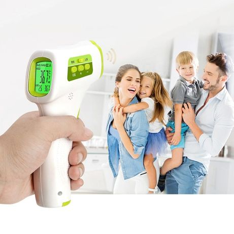 Безконтактен инфрачервен термометър за възрастни и бебе с гаранция
