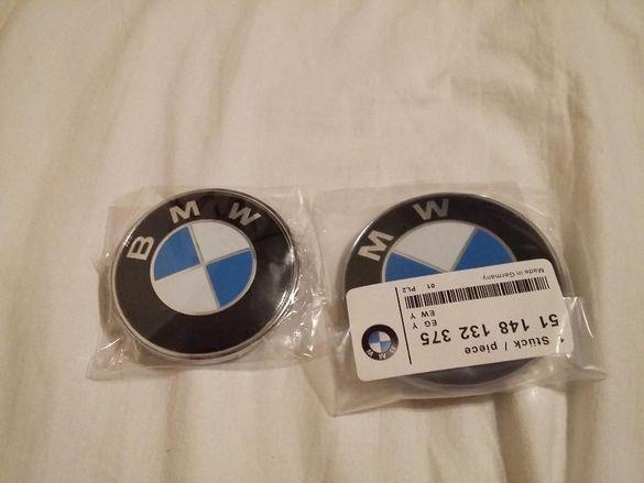 Емблема BMW БМВ 82 мм, 74 мм, капачки джанти 68мм, М power
