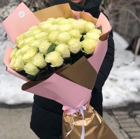 Цветы, розы, акции Алматы с круглосуточной доставкой