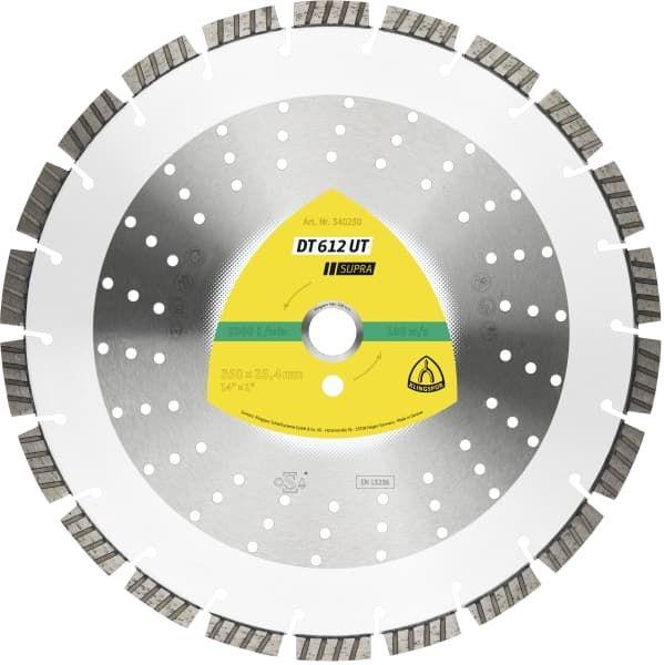 Disc diamantat segmentat turbo 350x25.4 mm Klingspor Supra - 340230 Cluj-Napoca - imagine 1