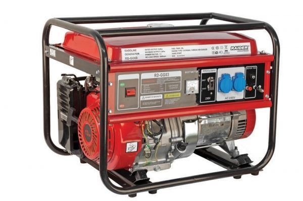 Generator benzina Raider RD-GG03, 5000 W, 25 L, 389 cmc