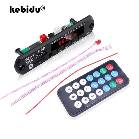 Mp3 Плеър модул за вграждане KEBIDU 5V-12V Bluetooth 5,0 USB/Tf/FM/AUX