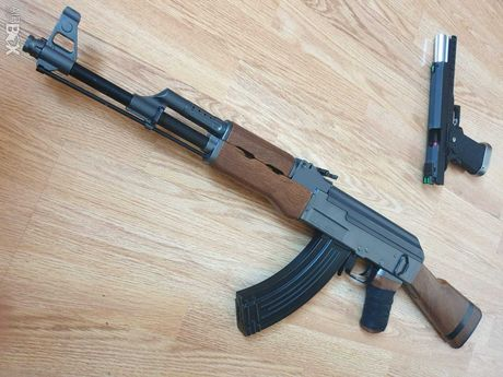 Pusca/Pistol Airsoft AK-47 Kalashnikov 1,5j ARC Manual METAL