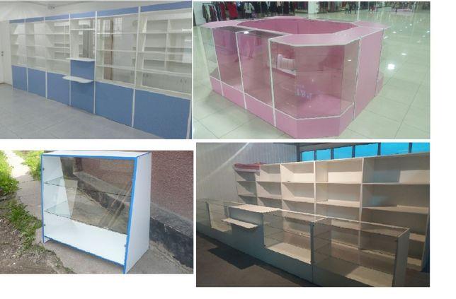 витрина стеклянная стеллажи для магазина островок аптеки на заказ