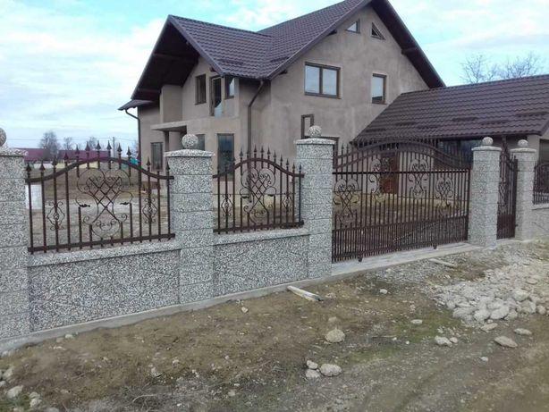 Garduri si porti din fier forjat, sipca, tabla, plasa, BCA, placi