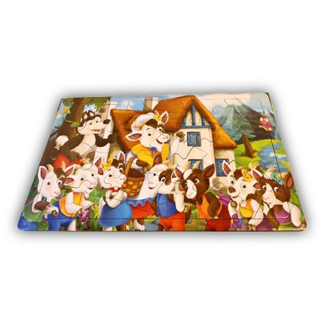 Puzzle copii, capra cu trei iezi, 24 piese