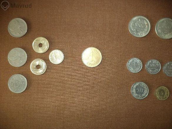 Монети от Швейцария, Испания, Турция, Франция, Македония