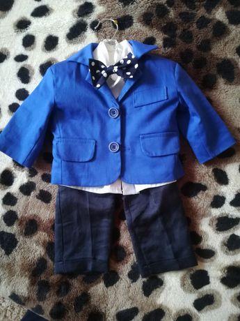 Costum botez / bebe 0-3 luni albastru