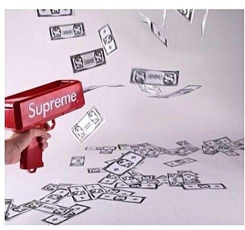 Парти пистолет SUPREME /+ пачка/ за изстрелване на пари за да сте #1