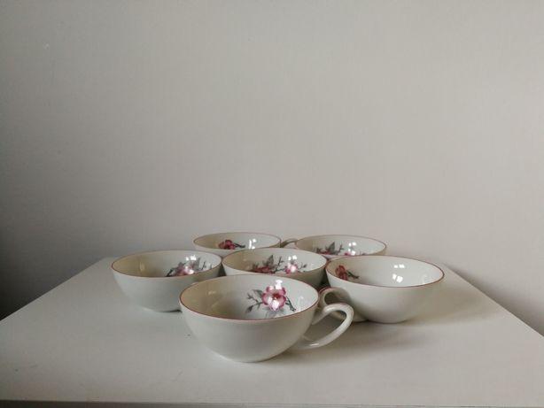 Vând 5 căni porțelan ELEGANTE pentru ceai sau cafea
