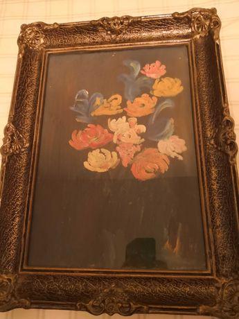 "Tablou pictat ""Flori"" (33x48 cm)"