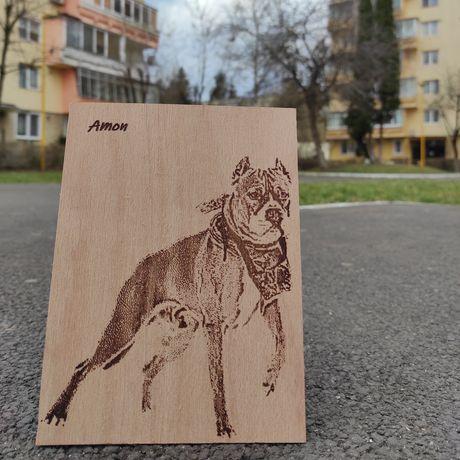Cadou personalizat Foto gravura animal de companie