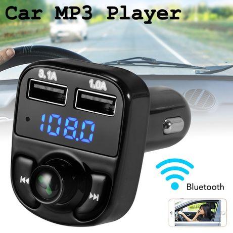 Блутут Хендсфри Трансмитер за кола , Bluetooth FM Transmitter, зарядно