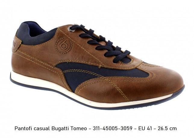 Sneaker piele naturala BUGATTI Stranger Tomeo Silvano Dark Blue