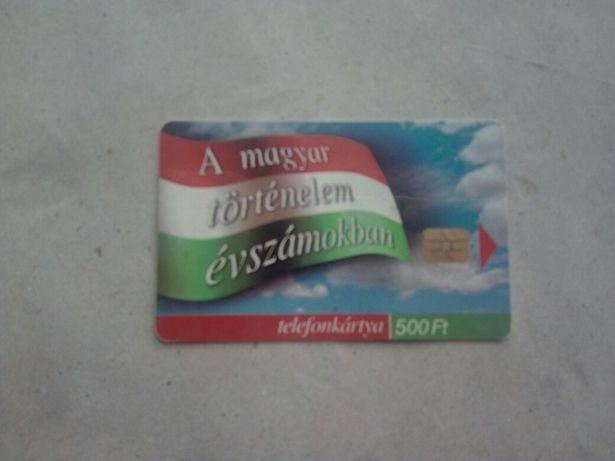 """Ungaria cartelă telefon public """"A magyar tortenelem evszamokban"""" 2002"""