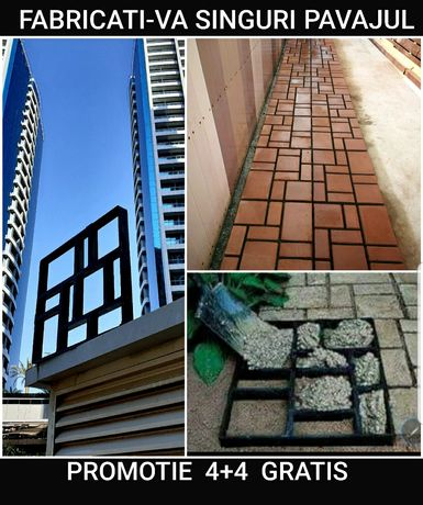 FABRICAȚI-VÂ SINGURI PAVAJ L matrite beton amprentat pavele constructi