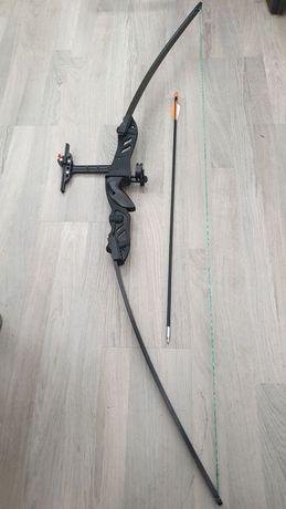 НОВ Лък спортен метален комплект с една стрела