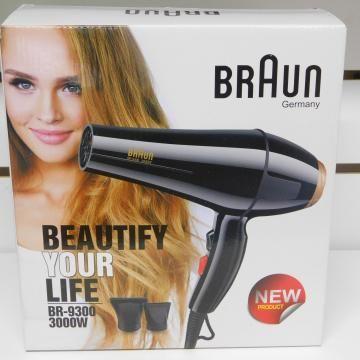 Новый, бытовой фен Braun/Cromozer (2 насадки) + доставка