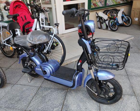 Bicicleta Electrica Scooter Deluxe RKS Ecotech, Motor 250W, 48V, 12Ah