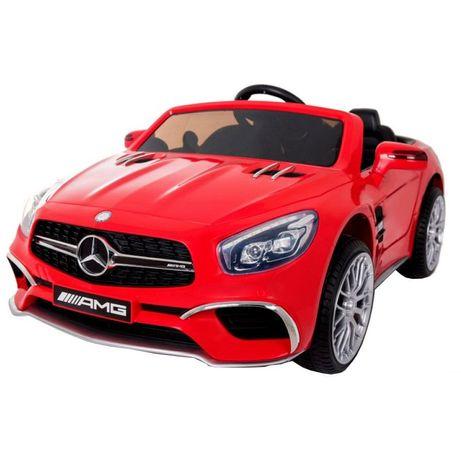 Masinuta electrica Mercedes SL65 AMG rosu Scaun din piele si roti Eva