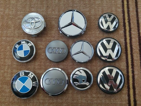 Капачки за джанти за Мерцедес,Бмв,Ауди,Фолксваген VW,Тойота и Шкода