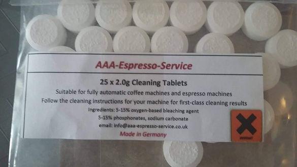 Таблетки за почистване на автоматична кафе машина