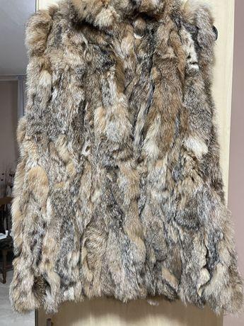 Елек от естесвен косъм на лисица
