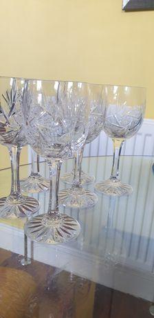 6 pahare vin cristal bohemia vintage