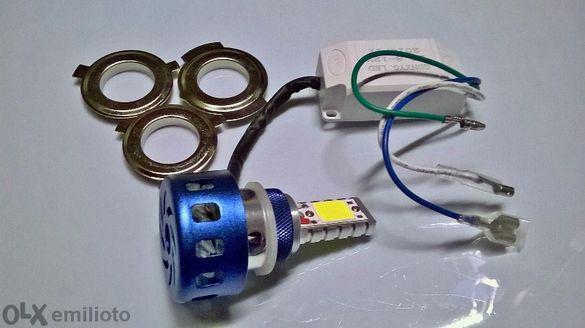 LED Фар за кола и мотор с два броя Cob LED къси и дълги светлини