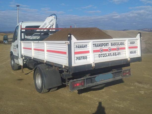 Transport basculabil nisip, sort, piatra, pamant, materiale
