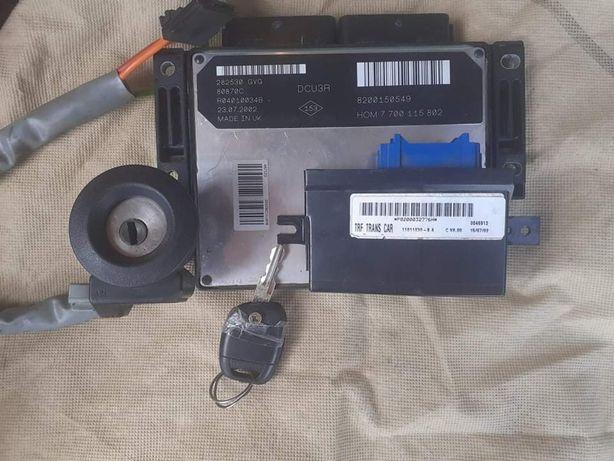 Kit pornire Ecu Contact+Cheie Cip Imobilizator Renault Kangoo 1.9 D
